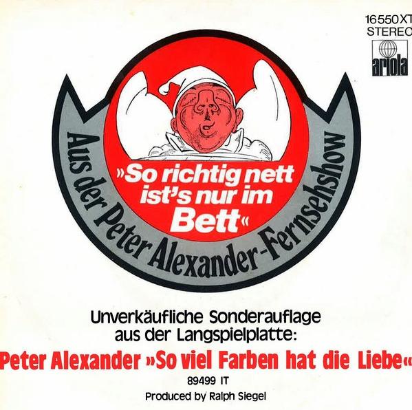 Cover So richtig nett ist's nur im Bett - Peter Alexander